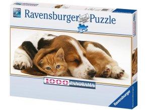 puzzle Nejlepší přítel 1000d, panorama, Ravensburger