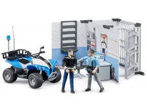 BRUDER 62730 Policejní stanice s figurkami a čtyřkolkou