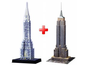 Sada 3D puzzle Chrysler Building noční + Empire State Building