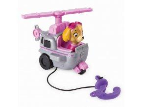 Spin Master Paw Patrol Malá vozidla s figurkou Skye a její létající stroj