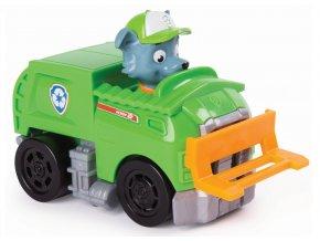 Spin Master Paw Patrol Malá vozidla s figurkou Rocky a jeho záchranářské auto