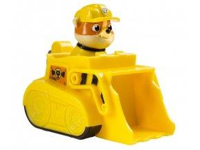 Spin Master Paw Patrol Malá vozidla s figurkou Rubble Záchranářský pásový bagr