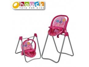 Hauck Jídelní židlička pro panenky 3v1 Birdie