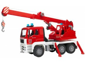 BRUDER 2770 MAN hasičský jeřáb s majákem