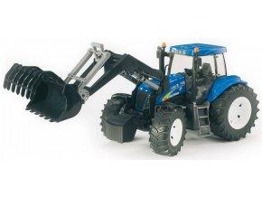 BRUDER 3021 Traktor NEW HOLLAND + čelní nakladač
