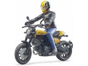 Bruder 63053 Ducati Scrambler s řidičem