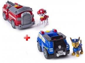 Spin Master Paw Patrol Základní vozidla s figurkou Chase a Marshalllarge nw (1)