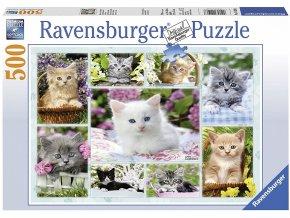 puzzle Koťata v košíku 500d, Ravensburger