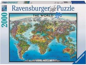 Ravensburger Mapa světa 2000 dílků