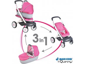 Kombinovaný kočárek Maxi Cosi pro panenky růžový