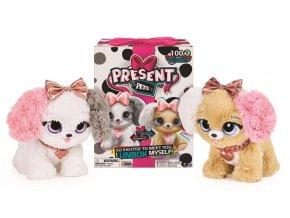 Spin Master Present pets Interaktivní štěňátka módní