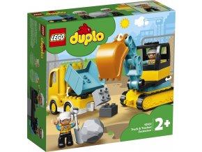 LEGO DUPLO 10931 Náklaďák a pásový bagr
