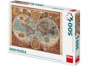 Dino Mapa světa 500 dílků