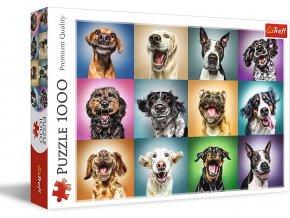 Trefl Veselé psí portréty 1000 dílků