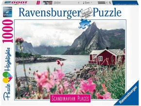 Ravensburger puzzle Skandinávie Lofoty, Norsko 1000 dílků