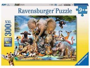 Ravensburger puzzle Afričtí přátelé XXL 300 dílků