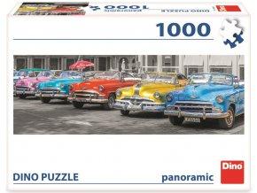 Dino puzzle Sraz bouráků panoramic 1000 dílků