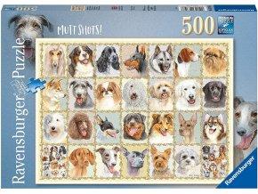Ravensburger puzzle Psí portréty 500 dílků