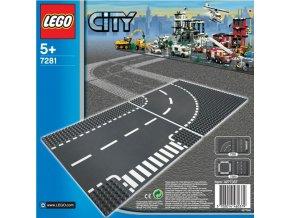 LEGO City 7281 Křižovatka ve tvaru T a zatáčka
