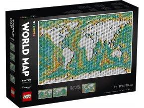 LEGO Art 31203 Mapa světa