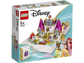 LEGO Disney 43193 Ariel, Bella, Popelka a Tiana a jejich pohádková kniha dobrodružství