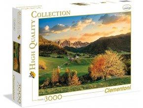Clementoni Puzzle Svatá Magdaléna, Dolomity, Itálie 3000 dílků