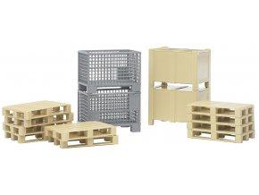 BRUDER 2415 Logistický set palety a bedny