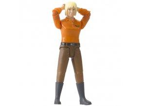 BRUDER 60401 Bworld Figurka - žena světlé vlasy (HO)