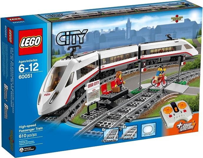LEGO City 60051 Vysokorychlostní osobní vlak + ministavebnice LEGO® dle vlastního výběru