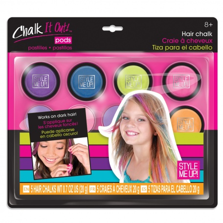 WOOKY SMU Křídy barevné smývatelné na vlasy set 5ks s aplikátorem Style Me Up