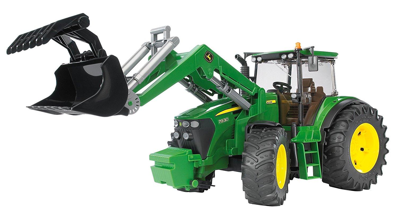 BRUDER 3051 Traktor John Deere 7930 + čelní nakladač