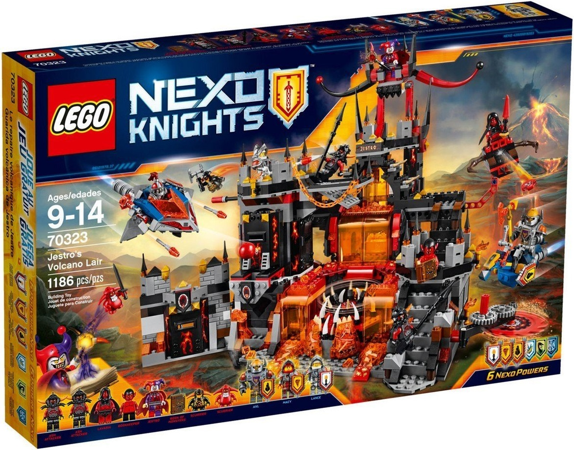 Lego Nexo Knights 70323 Jestrovo sopečné doupě + ministavebnice LEGO® dle vlastního výběru