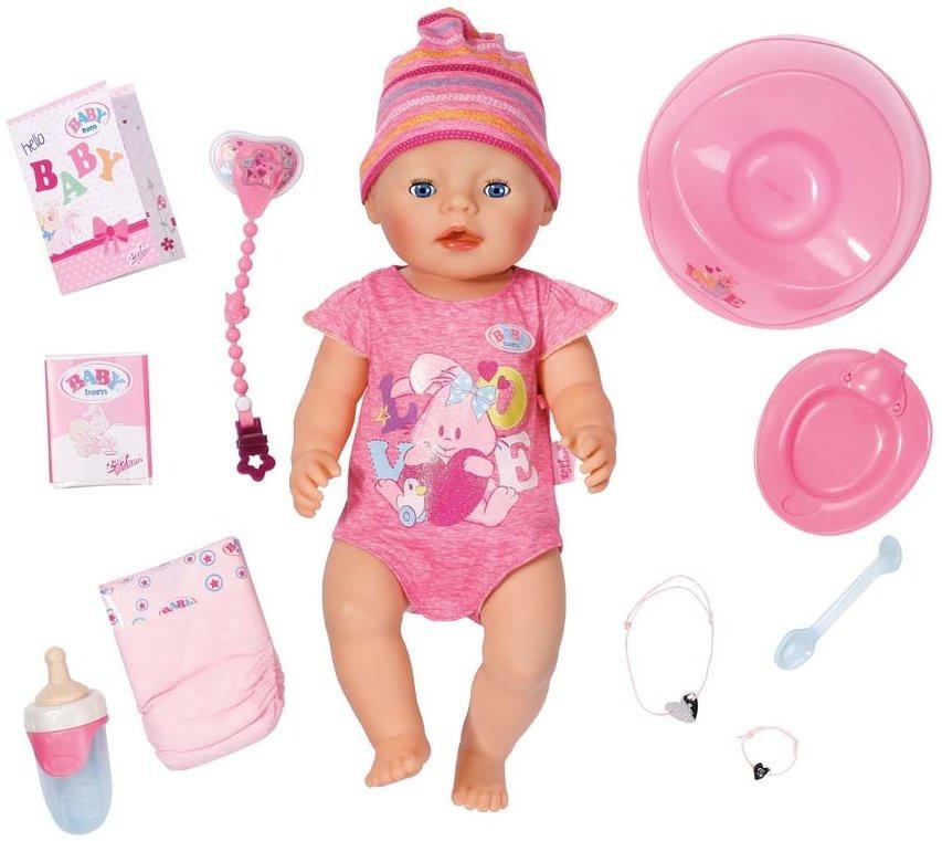 Zapf Creation Interaktivní BABY born holčička 43 cm