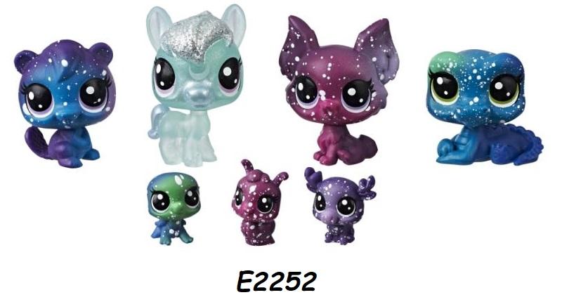 Hasbro Littlest Pet Shop Kosmická zvířátka 7 ks LPS Zvířátka: E2252