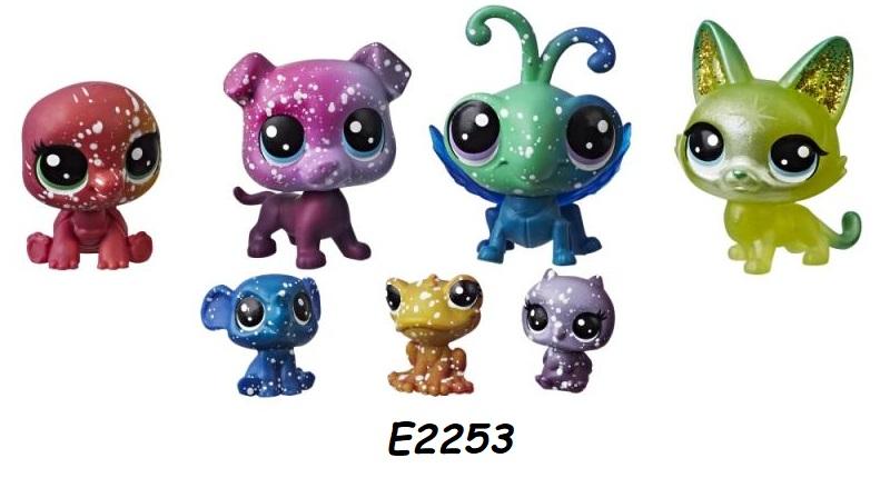 Hasbro Littlest Pet Shop Kosmická zvířátka 7 ks LPS Zvířátka: E2253