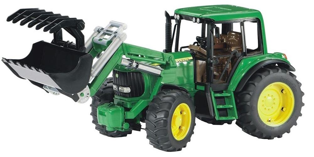 BRUDER 2052 Traktor John Deere 6920 s přední lžící