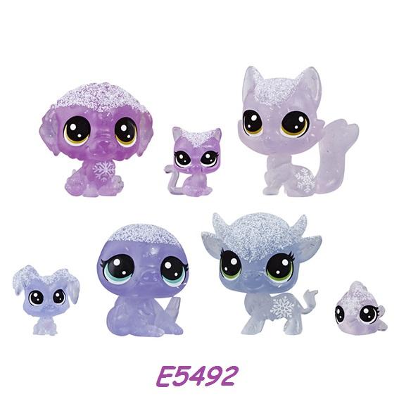 Littlest Pet Shop Zvířátka z ledového království 7ks LPS Zvířátka: E5492