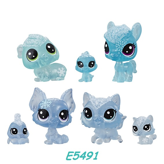 Littlest Pet Shop Zvířátka z ledového království 7ks LPS Zvířátka: E5491