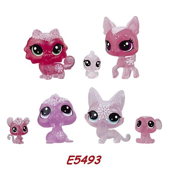 Littlest Pet Shop Zvířátka z ledového království 7ks LPS Zvířátka: E5493