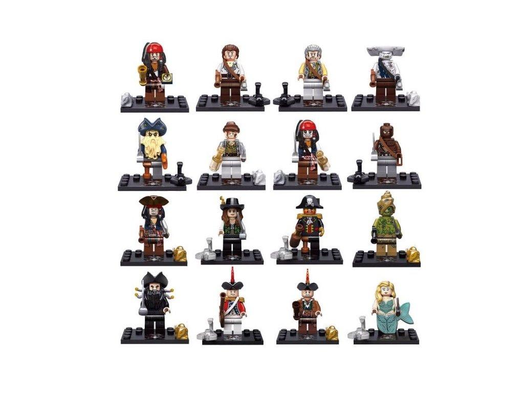 Figurky - Piráti z Karibiku LEGO kompatibilní sada 16 ks