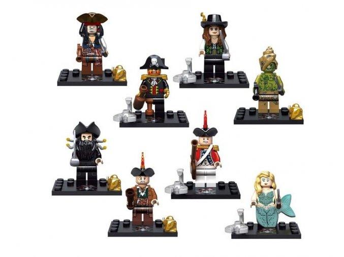 Figurky - Piráti z Karibiku LEGO kompatibilní sada 8 ks A