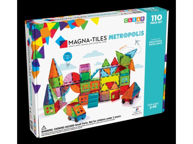 MagnaTiles Metropolis 110pc Carton Angle Back (1)
