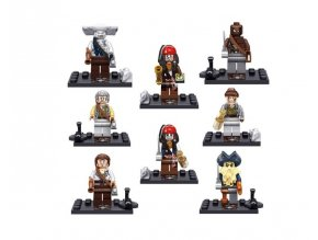 Figurky - Piráti z Karibiku kompatibilní sada k LEGO 8 ks B