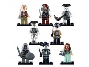 Figurky - Piráti z Karibiku kompatibilní sada k LEGO 8 ks C