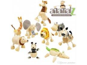 Dřevěná zvířátka Anamalz 12 ks
