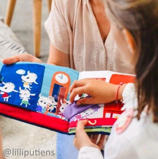Látkové knihy a hračky do vody Lilliputiens