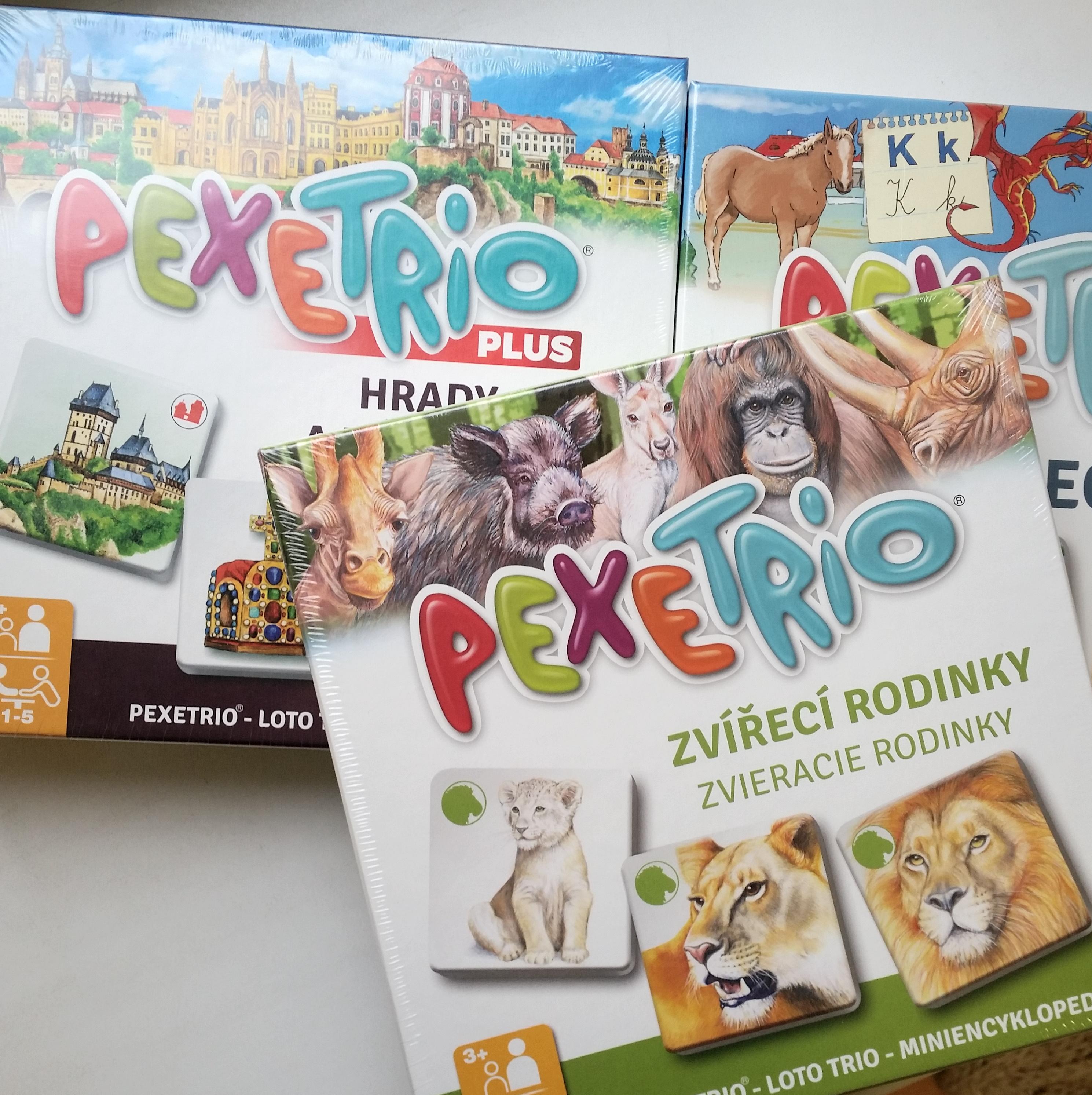 Pexetrio - didaktická hra podobná pexesu