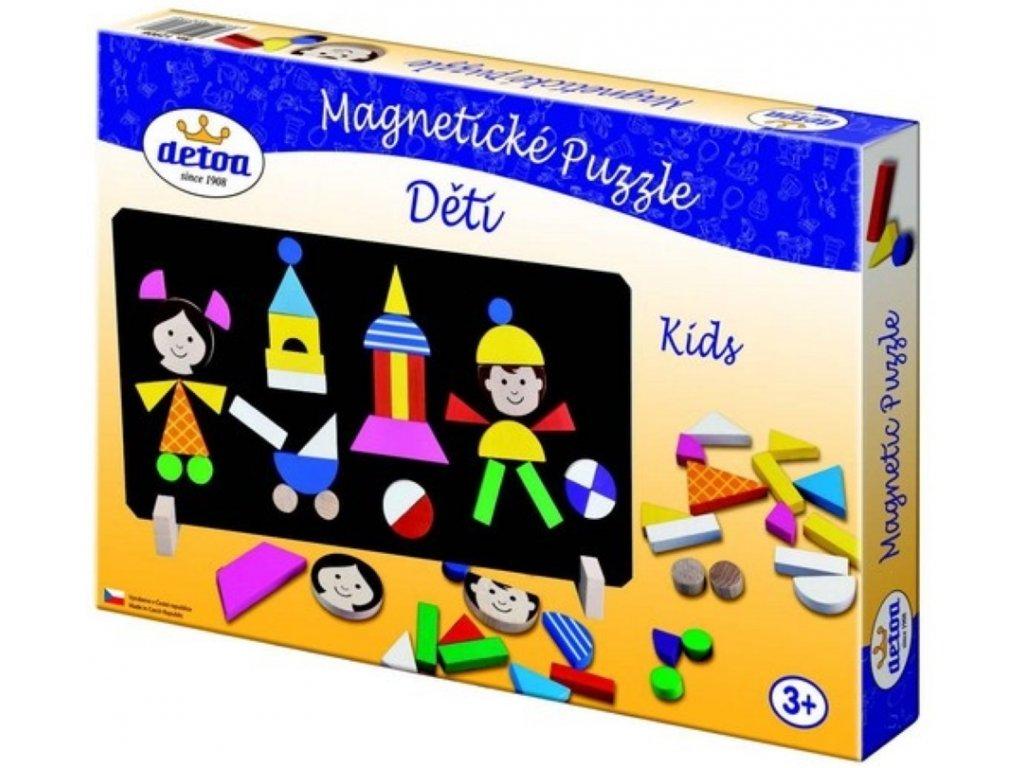 Detoa | Magnetické puzzle Děti
