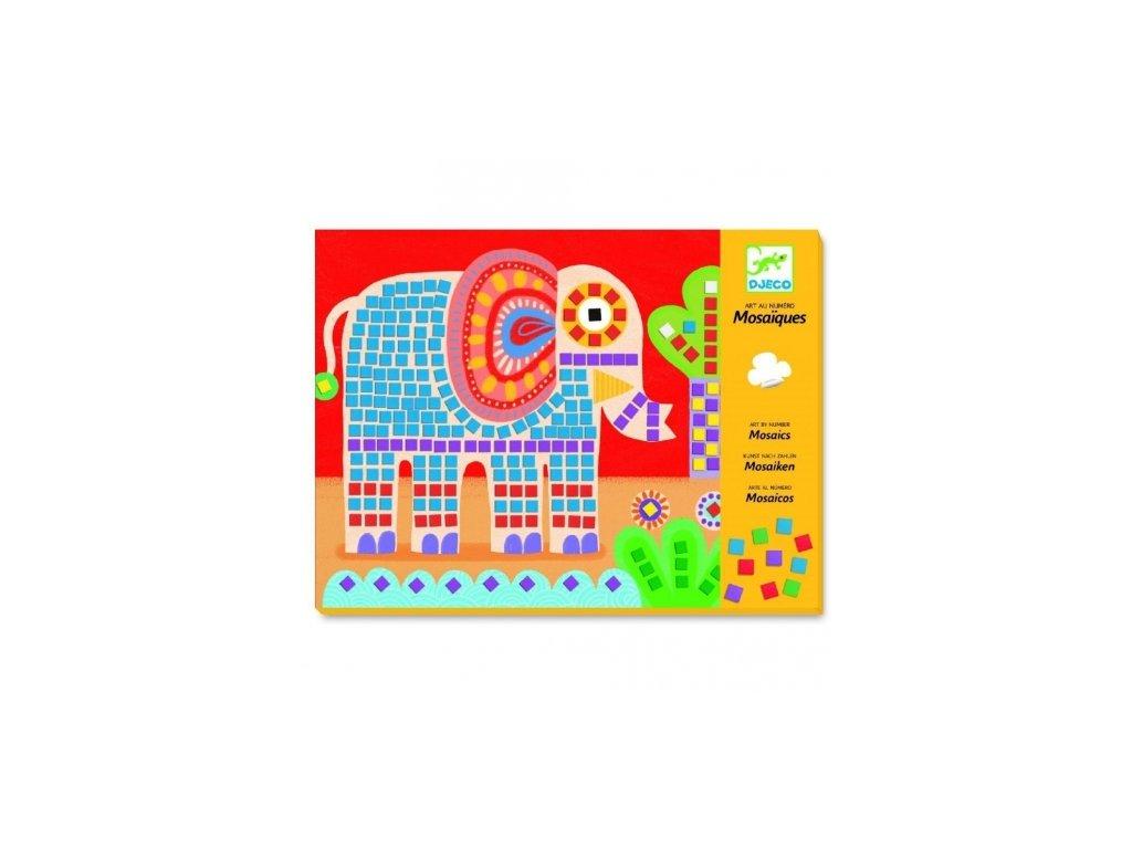 Djeco | Výtvarná sada mozaika - Slon a šnek