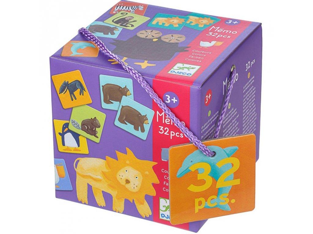 DJ08110 djeco pexeso barevná zvířátka